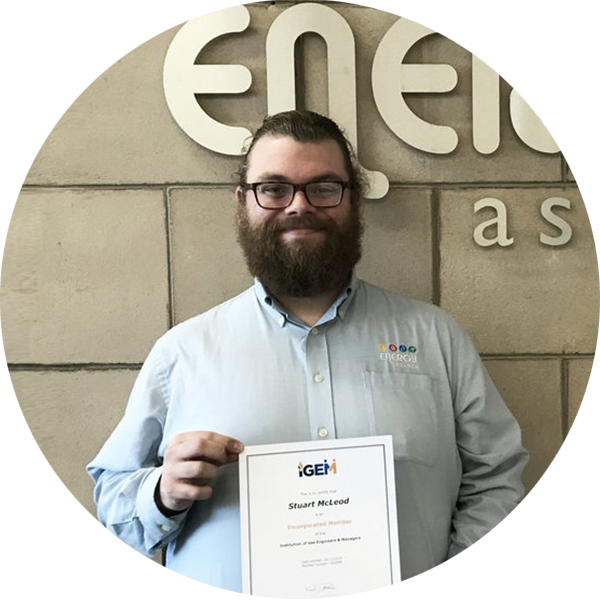 Stuart McLeod is awarded Incorporated Engineer status from IGEM